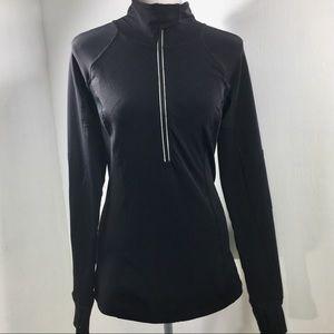 LuluLemon Black Half Zip Up Long Sleeve Top. 6